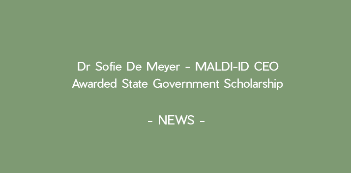 Dr Sofie De Meyer Awarded State Government Scholarship